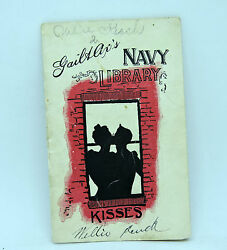 Ultra Scarce Antique 1896 Navy Library Gail And Ax Tobacco Mini Book Kisses
