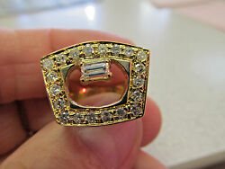 Unique Custom Made One Of A Kind Diamond Ring 14k Gold Size 5.5 Make Offer