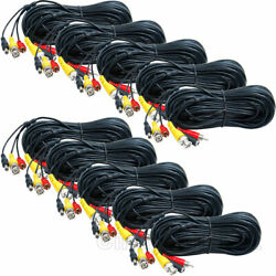 10x 150 ft Audio Video Power Cable Pre-made Connector for HD Security Camera wvb
