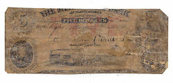 18xx The Mercantile Bank Of Plattsburgh Ny - 5 Contemporary Counterfeit Note