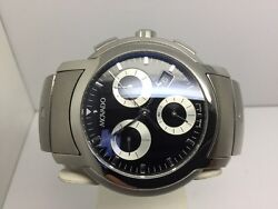 Mens Movado Sl Sport Luxury Chronograph Stainless Steel Watch With Date