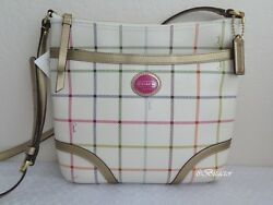 Coach NWT F20005 Peyton tattersall File Bag Multicolor