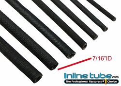 64-81 Black Cloth Wrap Wiring Harness Brake And Fuel Line Tube Wire 7/16 Id Per Ft