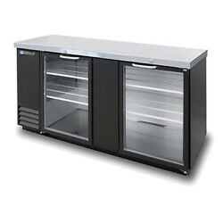 Masterbilt Mbbb69-g 69 Glass Door 2 Section Fusion Back Bar Refrigerator