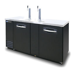 Masterbilt Mbdd69 69 Fusion Direct Draw Beer Cooler W/ 2 Tap Towers