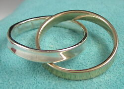 And Co. 1837 Interlocking Circles 18k Yellow Gold And Sterling Silver Ring
