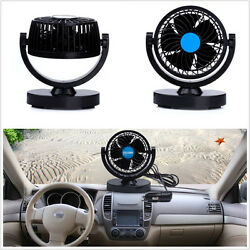 Universal 12V 360° Rotating 2 Speed Strong Wind Mini Fan Car Air Conditioner