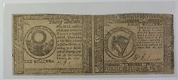 1777 Colonial Currency 30 And 8 2 Subject Uncut Pair Never Used Ex Fine Gh