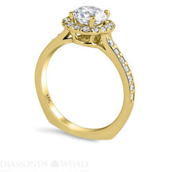 1.51 Tc Solitaire With Accent Bridal Diamond Ring Si1/d Engagement Ring Enhanced