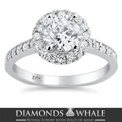 Engagement Round Diamond Ring Si1/d 1.51 Ct White Gold Accents Round Enhanced