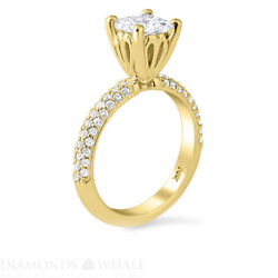 1.51 Tcw Solitaire With Accent Princess Diamond Ring Si1/e Engagement Enhanced