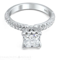 1.53 Tcw Solitaire With Accent Princess Diamond Ring Vs1/f Engagement Enhanced