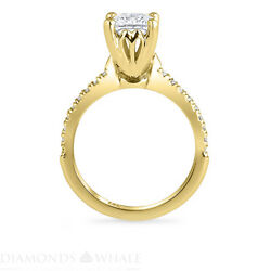 Princess Diamond Ring Si1/d 1.15 Tcw Yellow Gold Solitaire With Accent Enhanced