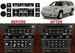 Ac Button Repair Kit For 2007-2014 Cadillac Escalade Fix Your Peeling Buttons