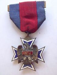 Ultra Rare Numbered Military Society Of The War Of 1812 Membership Medal 245
