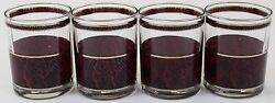 Set Of 4 Georges Briard Faux Grain Old-fashioned Glasses