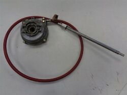 MORSE CONTROLS ROTARY STEERING CABLE WITH GEAR BOX 6' MARINE BOAT