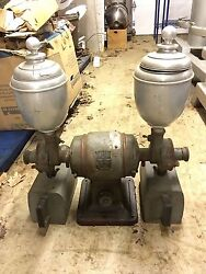 Rare Vintage Coles Coffee Grinder Model 55 With Double Head And Two Bins