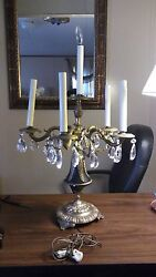 Early Centry Antique 6 Light Table Top Chandelier Lamp. Maybe 1930and039s Vintage.