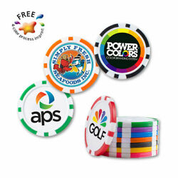 Custom Poker Chips - 500 Quantity - Custom Printed With Your Logo