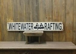 Whitewater Rafting/rustic/carved/wood/sign/river/canoe/kayak/cabin/décor/lodge/