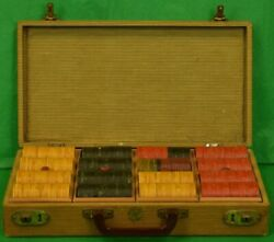 Vintage Abercrombie And Fitch Bakelite Poker Chip C1930s Boxed Set