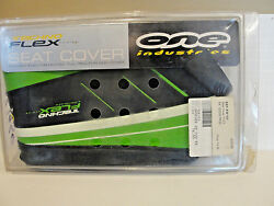 One Industries Techno Flex Seat Cover Black/ Green, Sef-kw103