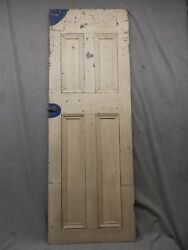 Antique Country Cupboard Door Cabinet Pantry Kitchen Vtg Chic Old 55x19 305-17p