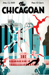 Chicago Illinois Dance Jazz Music Theater Tourism Vintage Poster Repro Free S/h