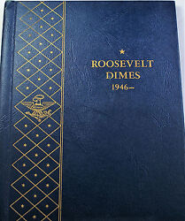 1946- 1968 Roosevelt Dimes Complete Silver Uncirculated Coins Whitman 9115 B