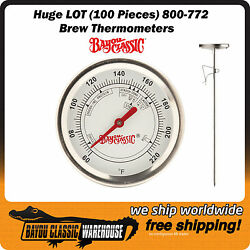 Huge Lot 100 Pieces Of Brew Thermometers Bayou Classic 800-772