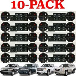 10 PACK Replacement Climate Control Button Stickers For 2007-2013 Chevrolet GMC