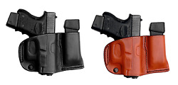 Tagua Right Hand Belt Holster With Magazine Carrier Leather - Choose Gun And Color
