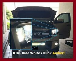2014-17 Toyota Tundra  LED switch back kit for DTRL complete wwiring