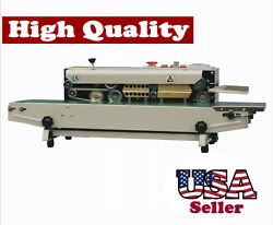 Horizontal Band Sealer W/ Emboss Printer Stainless Steel Continuous Seal Bag
