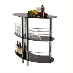 Winsome Martini Entertainment Home Bar in Black