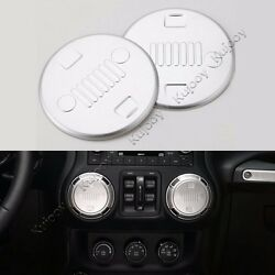 4X Silver Air Conditioner Outlet Vent Cover Trim Sticker for Jeep Wrangler 11-16