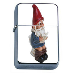 Gnomes D7 Windproof Dual Flame Torch Lighter Refillable Folklore Garden Statue