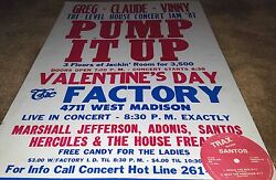 Adonis Marshall Jefferson Authentic Factory 1987 Chicago House Music Poster