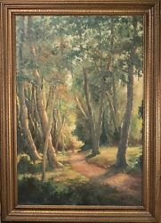 Vladimir Lazarev Oil Painting On Canvas Horse Rider Through Woods Fine And Large