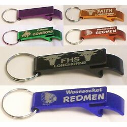 50 Personalized Key Chain Bottle Openers Custom Engraved Customized Promotional