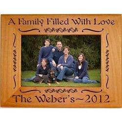 Personalized Family Wood Picture Frames 4x6 5x7 8x10 Custom Engraved Gifts Photo