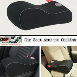 Luxury Arm Rest Seat Increased Pads Protective For Car Console Arm Rest -Black