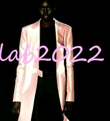 Gucci Tom Ford Ice Pink Poie De Soie Satin Runway Coat CHIC! CHIC! CHIC!
