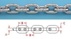 1 Ft 1/2 Iso G4 Stainless Steel Boat Anchor Chain 316l Repl S0604-0010