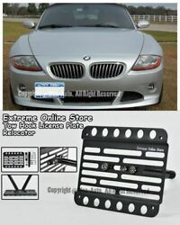 02-08 For Bmw Z4 Stand E85 Front Tow Hook License Plate Mount Bracket Relocator
