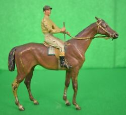 And039vienna Geschutzt Cold-painted Bronze C.1910and039s Jockey Up On Racehorseand039