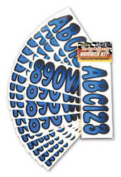 3 Inch Blue / Black Shaded Boat Letters And Numbersstickersnumber Kit