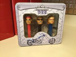 2006 Orange County Choppers Pez Dispenser Set In Gift Tin Limited Edition