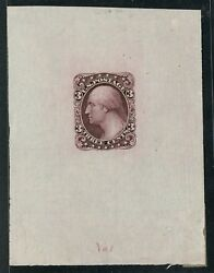 184-e5b Die Essay On Proof Paper Three Cents Bank Note Essay Bt9677